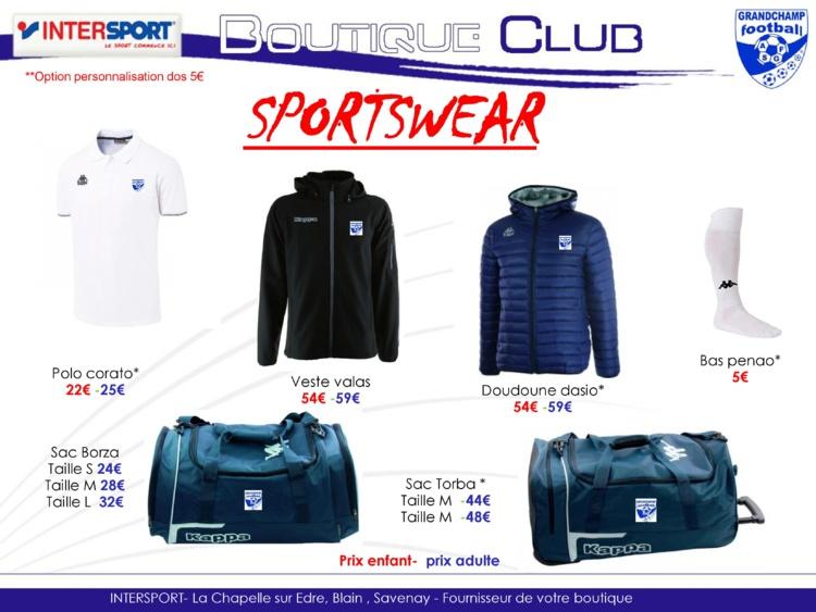 Boutique Sportswear Mixte