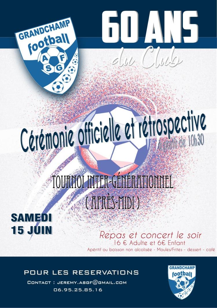 Les 60 ANS DU CLUB, A VOS AGENDAS !
