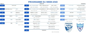 Programme du week-end des 11, 12 et 13 octobre 2019