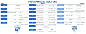 Programme du week-end du 15 novembre 2019