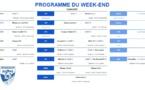 Programmes des rencontres du weekend du 23/24 novembre 2019
