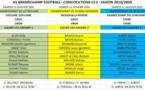 ASGF - U13 - Convocations pour le samedi 11 janvier 2020